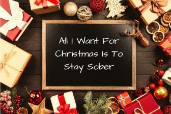 staying sober at christmas