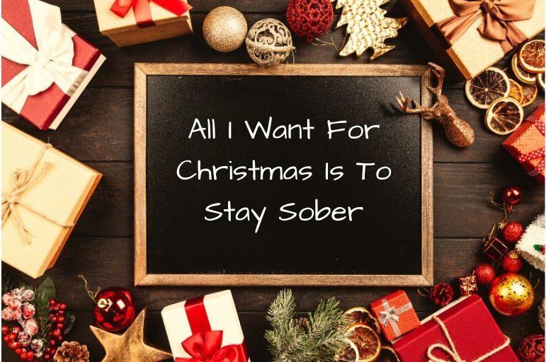 staying sober at christmas