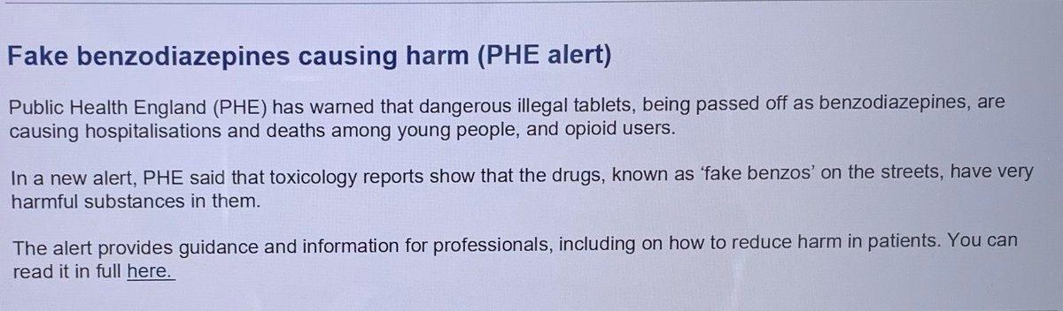 Deadly Fake Benzodiazepines